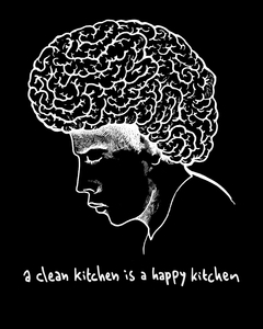 A Clean Kitchen Is A Happy Kitchen - T-Shirt Brains