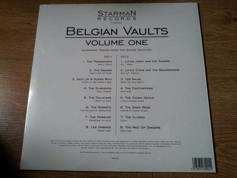 Belgian Vaults Vol. 1 - Legendary Tracks From The 60's Archives