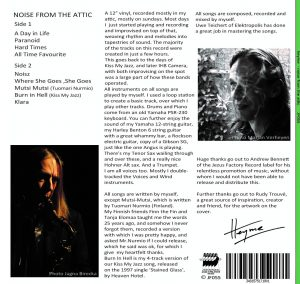 Heyme - Noise from the attic back cover