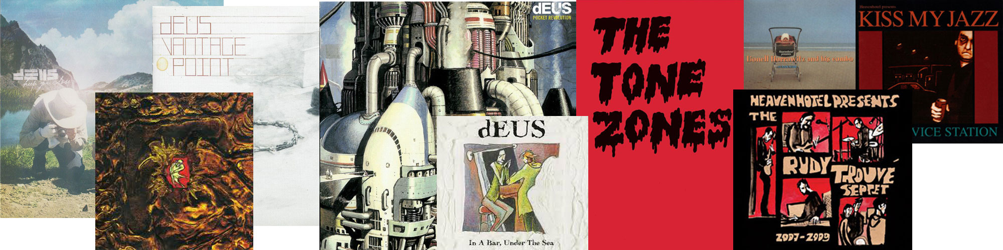 dEUS vinyl re-issues and Heaven Hotel re-stock